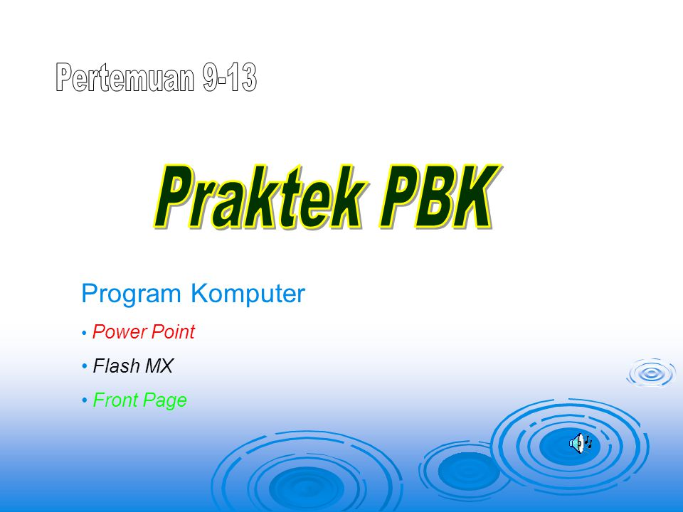 Program Komputer Power Point Flash MX Front Page