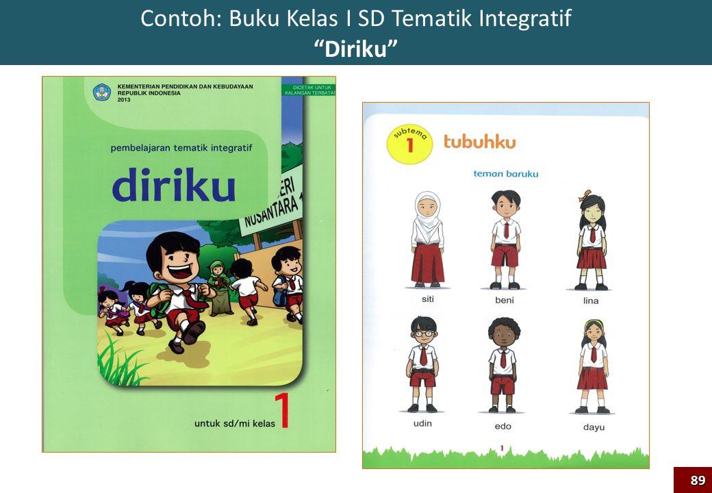 """Contoh: Buku Kelas I SD Tematik Integratif """"Diriku""""89"""
