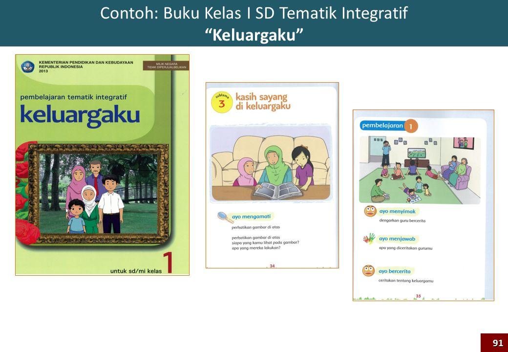 "Contoh: Buku Kelas I SD Tematik Integratif ""Keluargaku""91"