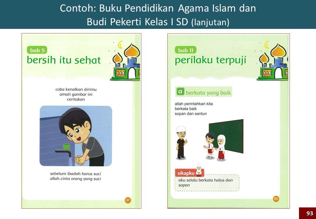 Contoh: Buku Pendidikan Agama Islam dan Budi Pekerti Kelas I SD (lanjutan)93