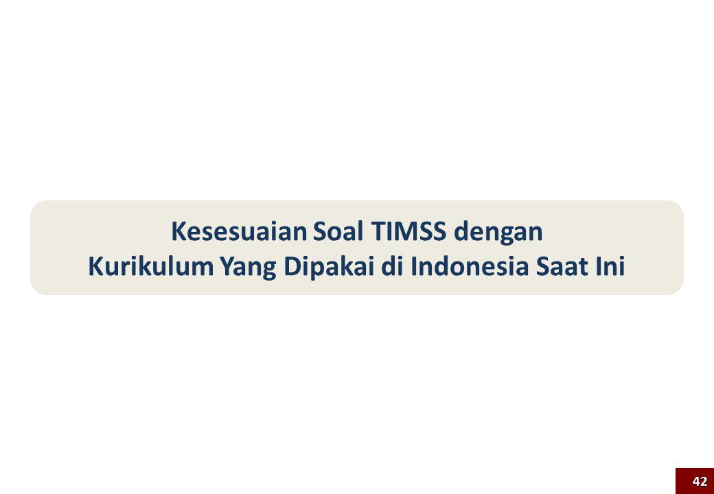Kesesuaian Soal TIMSS dengan Kurikulum Yang Dipakai di Indonesia Saat Ini 42