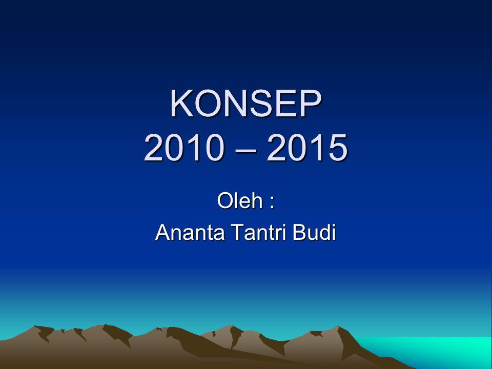 KONSEP 2010 – 2015 Oleh : Ananta Tantri Budi