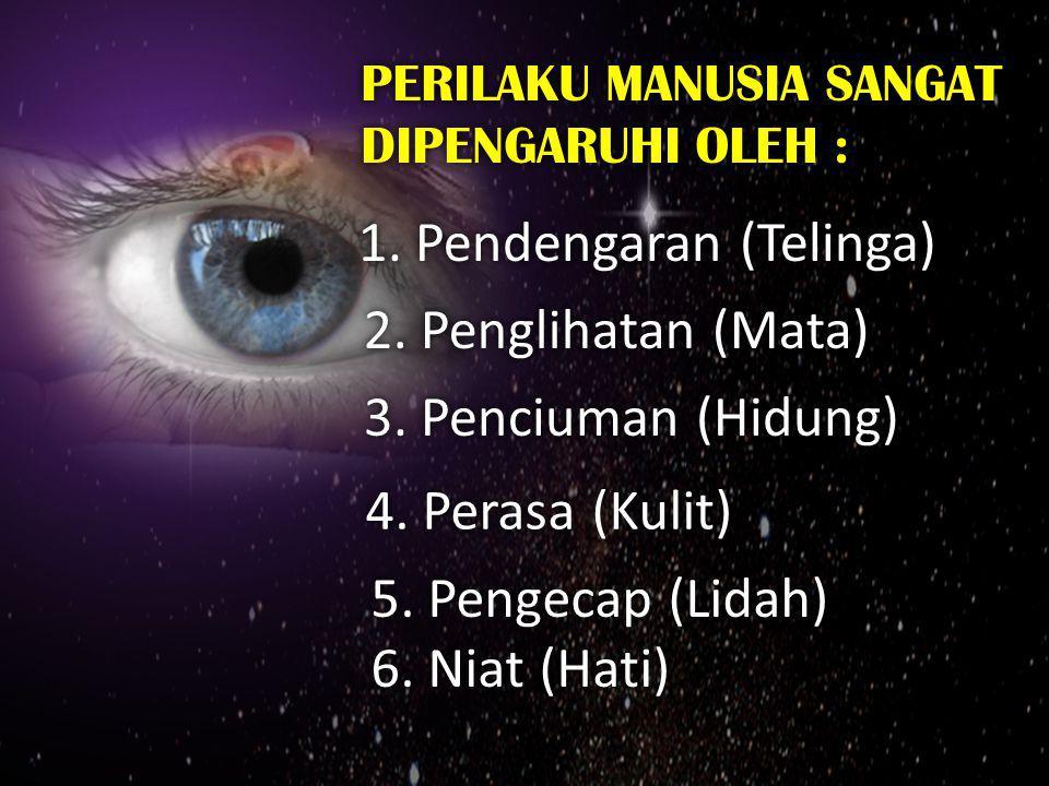 PERILAKU MANUSIA SANGAT DIPENGARUHI OLEH : PERILAKU MANUSIA SANGAT DIPENGARUHI OLEH : 1. Pendengaran (Telinga) 2. Penglihatan (Mata) 3. Penciuman (Hid