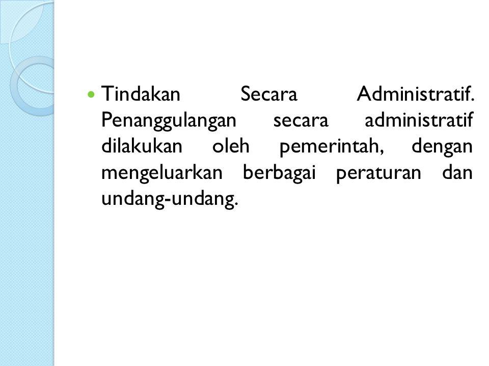 Tindakan Secara Administratif.