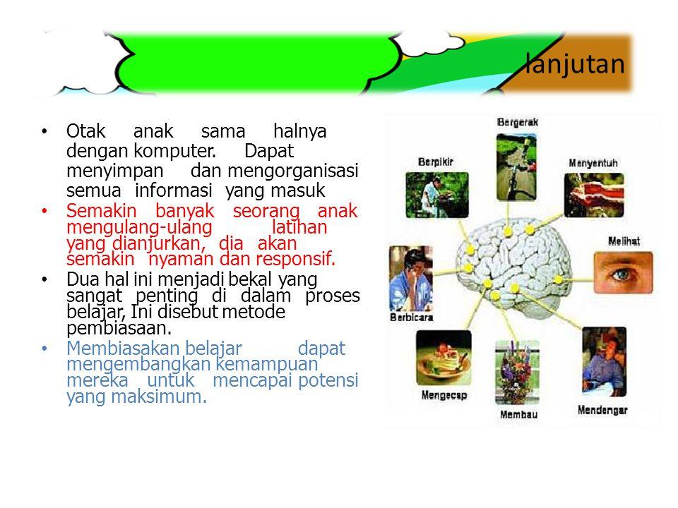 Dimensi Kecerdasan Jamak Kecerdasan Linguistik (Cerdas kosakata) Kecerdasan logika dan matematika (Cerdas angka dan rasional) Kecerdasan visual-spasial (Kecerdasan ruang/tempat/gambar) Kecerdasan kinestetika-raga (Cerdas raga) Kecerdasan musik (Cerdas musik) Kecerdasan interpersonal (Cerdas orang) Kecerdasan intrapersonal (Cerdas diri) Kecerdasan naturalis (Cerdas alam)