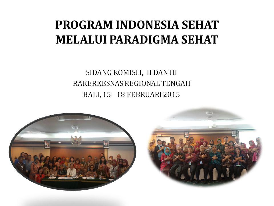 PROGRAM INDONESIA SEHAT MELALUI PARADIGMA SEHAT SIDANG KOMISI I, II DAN III RAKERKESNAS REGIONAL TENGAH BALI, 15 - 18 FEBRUARI 2015