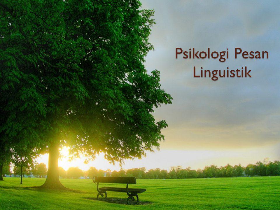 Psikologi Pesan Linguistik