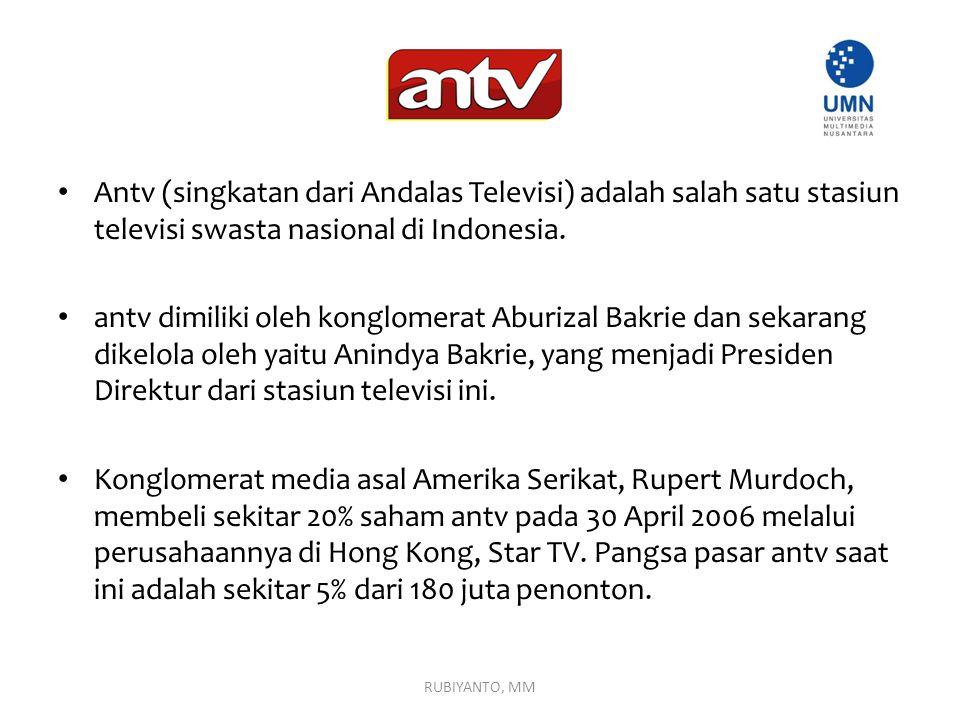 Antv (singkatan dari Andalas Televisi) adalah salah satu stasiun televisi swasta nasional di Indonesia. antv dimiliki oleh konglomerat Aburizal Bakrie