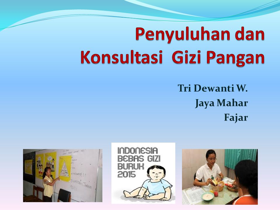 Ke Pokok BahasanDosen 1.Pendahuluan Konsep Dasar Penyuluhan dan Konsultasi Gizi Pangan TDW 2.Masalah Perilaku dan Budaya dalam Kaitannya dengan Gizi Pangan TDW 3.Program Penyuluhan dan Konsultasi Gizi Pangan di Indonesia - Tujuan dan sasaran program - Kebijakan program - Kegiatan pokok program TDW 4.Sistem Penyuluhan dan Konsultasi Gizi Pangan Fajar 5 Metode Penyuluhan dan Konsultasi Gizi Pangan Fajar
