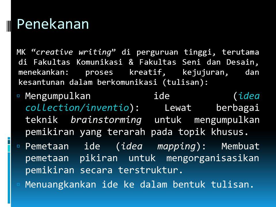 Modal menulis  Tekad, bukan bakat dan alat.Tekad = 95%.
