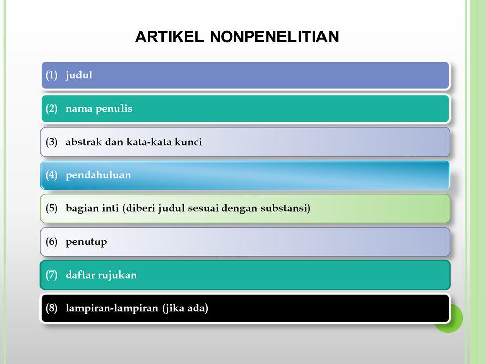 ARTIKEL NONPENELITIAN