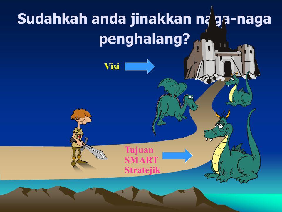 Sudahkah anda jinakkan naga-naga penghalang? Visi Tujuan SMART Stratejik