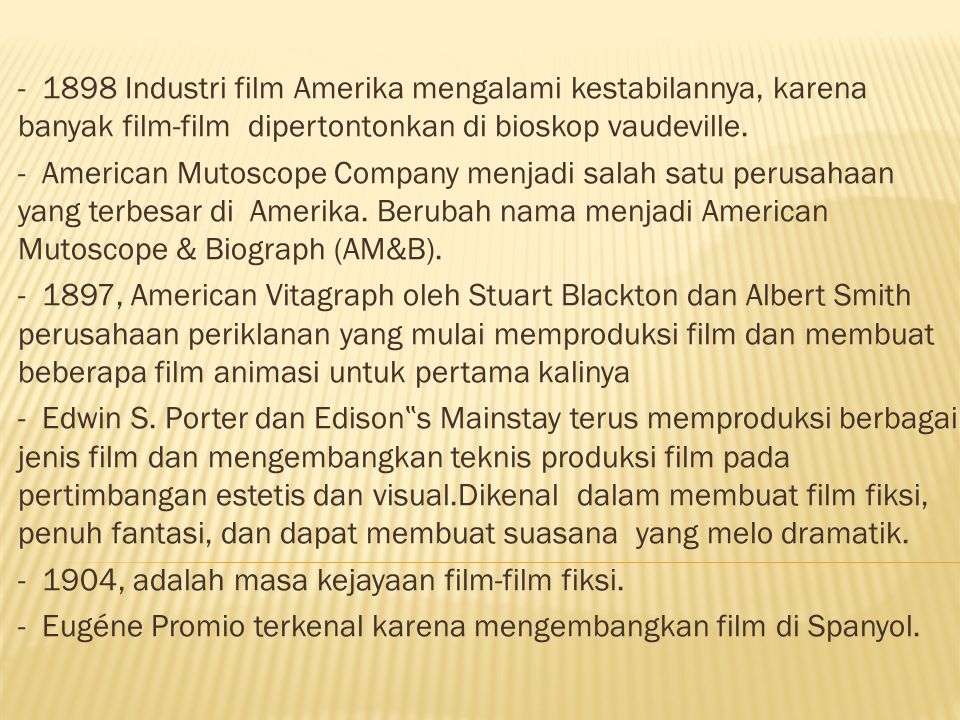 PERLUASAN DAN PERKEMBANGAN CINEMA INTERNASIONAL.