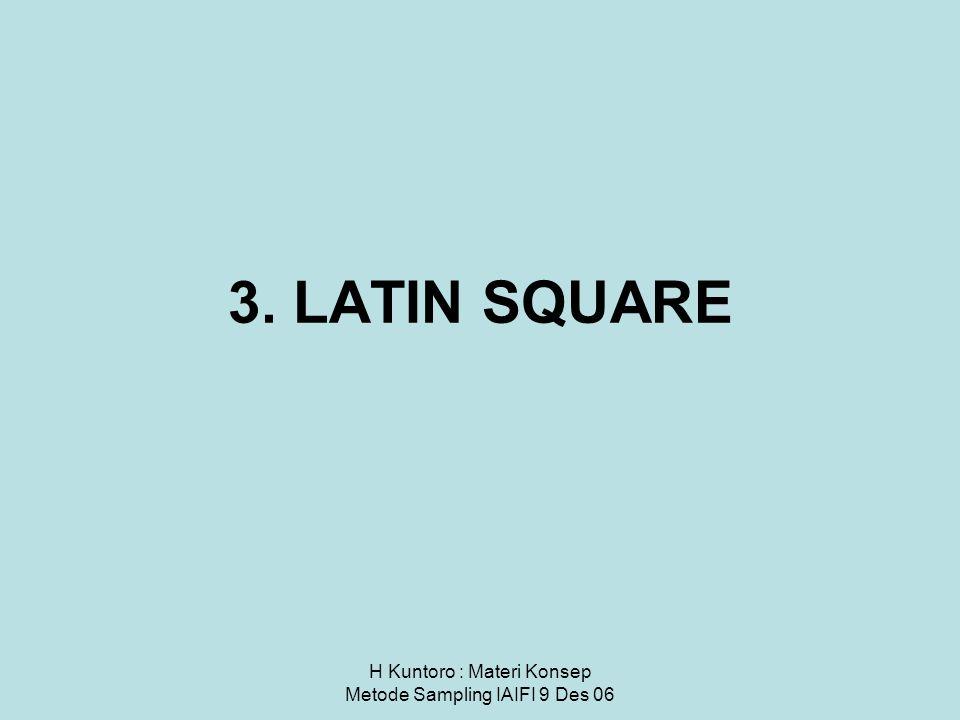 3. LATIN SQUARE