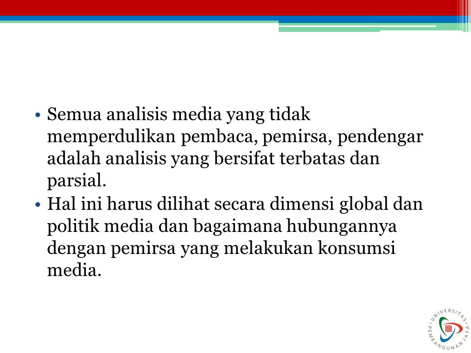 MEDIA STUDIES AND MEDIA ANALYSIS