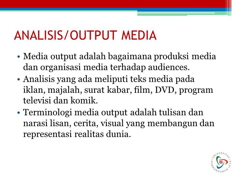 Analisis media adalah kajian komponen yang membentuk media.