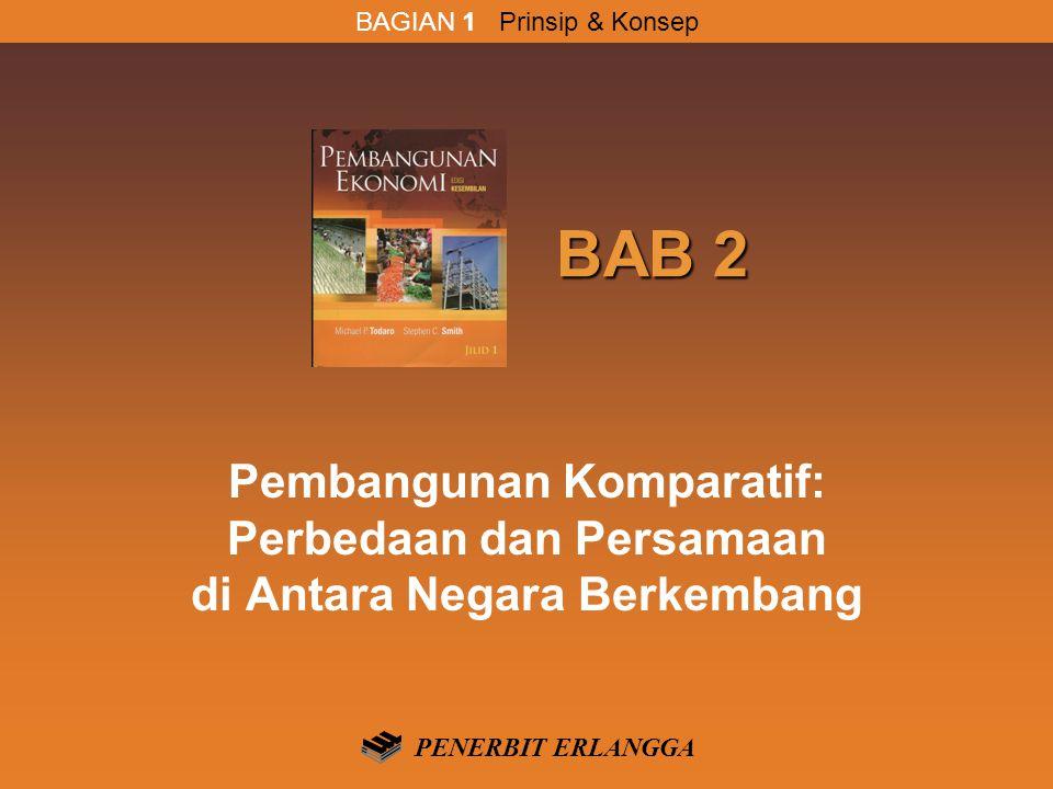 BAB 2 BAB 2 Pembangunan Komparatif: Perbedaan dan Persamaan di Antara Negara Berkembang PENERBIT ERLANGGA BAGIAN 1 Prinsip & Konsep