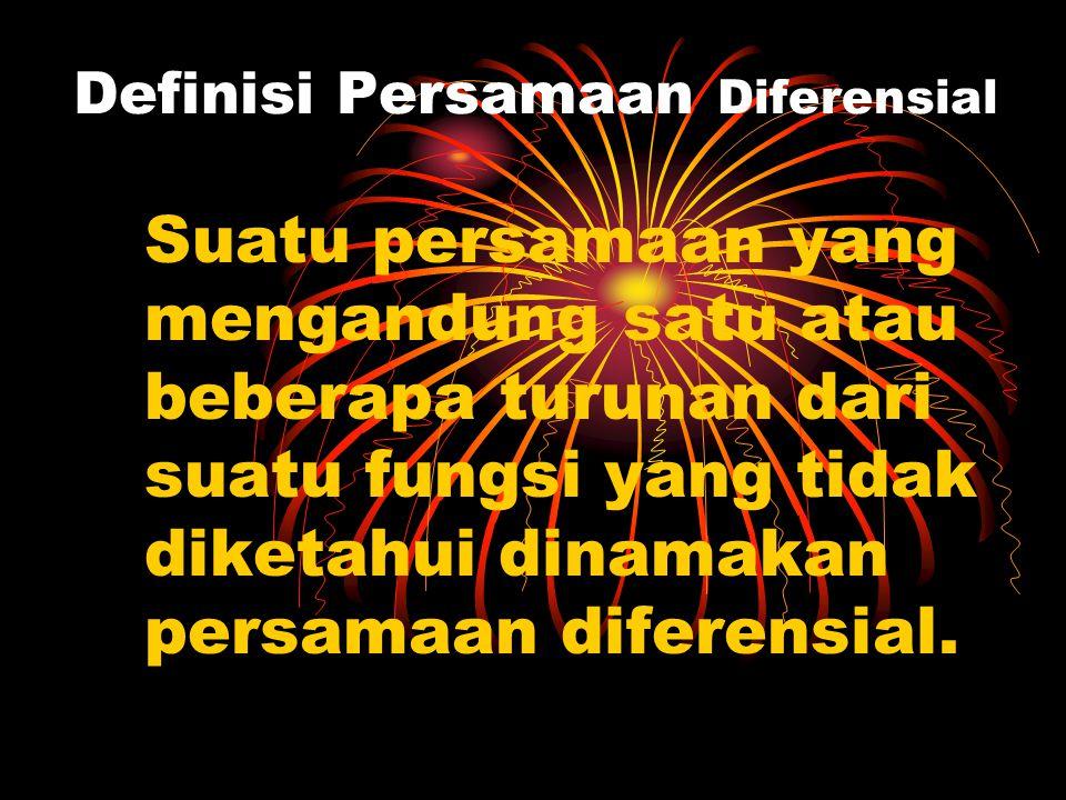 MATERI PERS DIFERENSIAL DEFINISI PERSAMAAN DIFERENSIAL DEFINISI PERSAMAAN DIFERENSIAL  DEFINISI PERSAMAAN DIFERENSIAL DEFINISI PERSAMAAN DIFERENSIAL