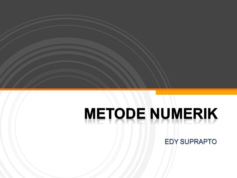 Page  12 DERET TAYLOR (Persamaan Deret Taylor) Deret Taylor merupakan dasar untuk menyelesaikan masalah dalam metode numerik,terutama penyelesaian persamaan diferensial.