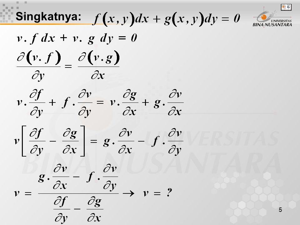 6 Kemungkinan-kemungkinan jenis yang digunakan: a. fungsi x saja, maka b. fungsi y saja, maka c.