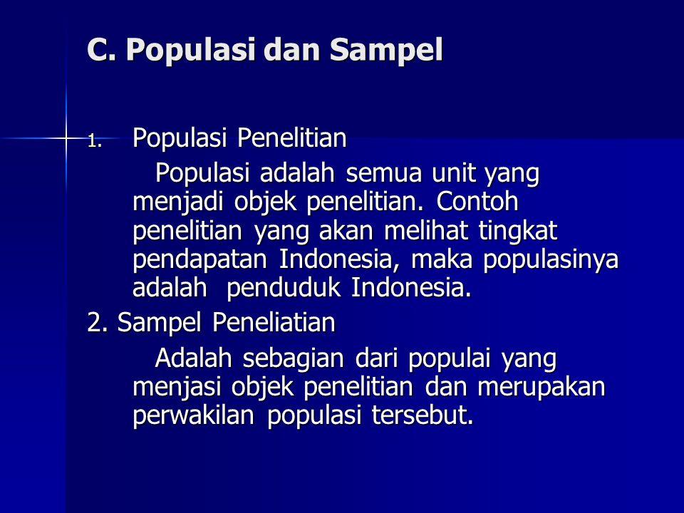 C.Populasi dan Sampel 1.