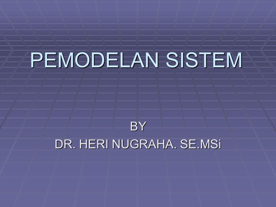 PEMODELAN SISTEM BY DR. HERI NUGRAHA. SE.MSi