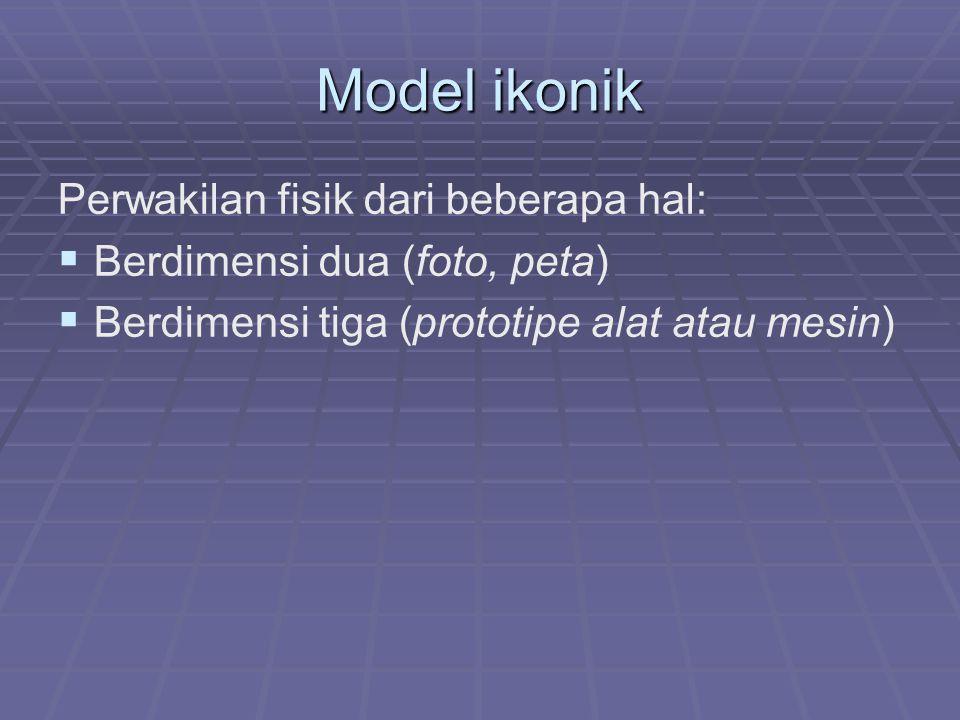 Model Analog () Model Analog (Model Diagramatik)) Mewakili situasi dinamik yaitu keadaan berubah menurut waktu.