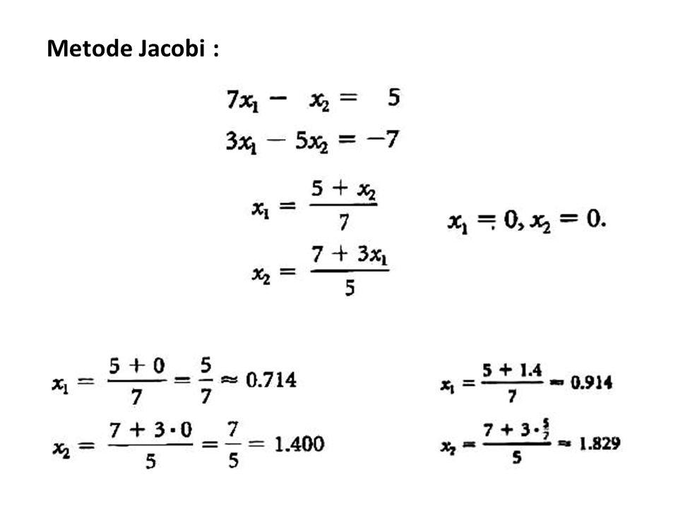 Metode Jacobi :