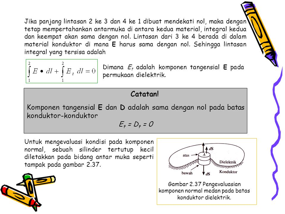 Jika panjang lintasan 2 ke 3 dan 4 ke 1 dibuat mendekati nol, maka dengan tetap mempertahankan antarmuka di antara kedua material, integral kedua dan