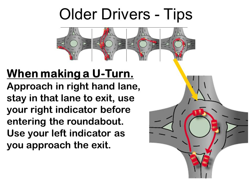 Older Drivers - Tips When making a U-Turn.