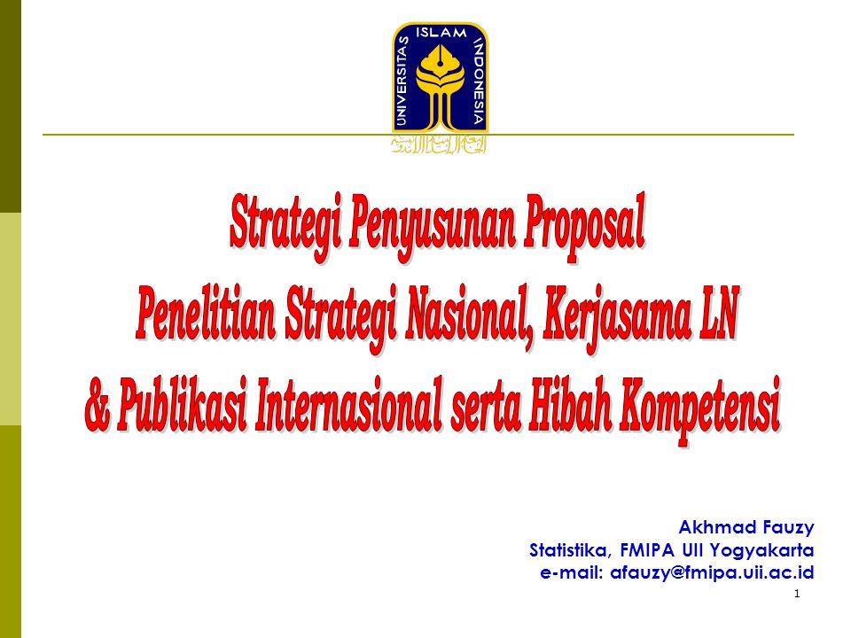 1 Akhmad Fauzy Statistika, FMIPA UII Yogyakarta e-mail: afauzy@fmipa.uii.ac.id