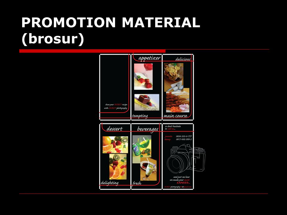 PROMOTION MATERIAL (brosur)