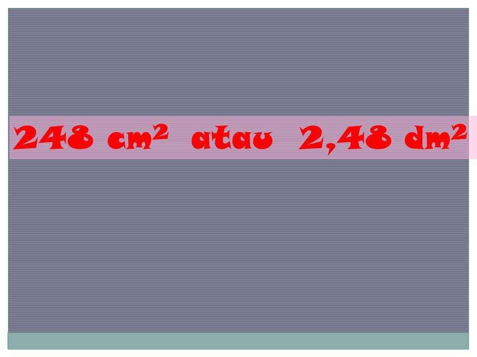 248 cm 2 atau 2,48 dm 2