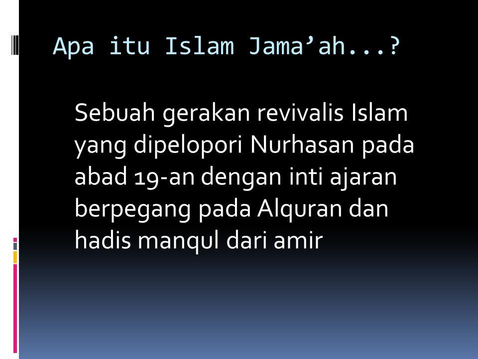 Apa itu Islam Jama'ah....