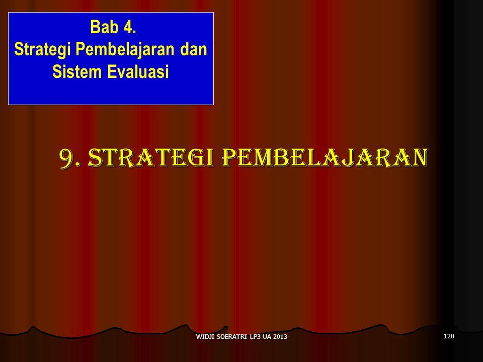 9.STRATEGI PEMBELAJARAN WIDJI SOERATRI LP3 UA 2013 120 Bab 4.