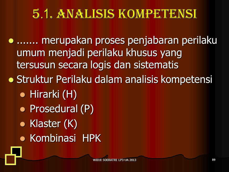 5.1.Analisis kompetensi.......