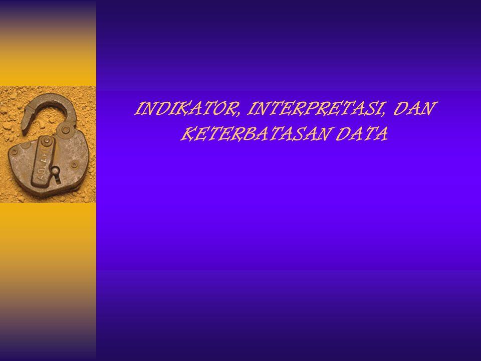 INDIKATOR, INTERPRETASI, DAN KETERBATASAN DATA