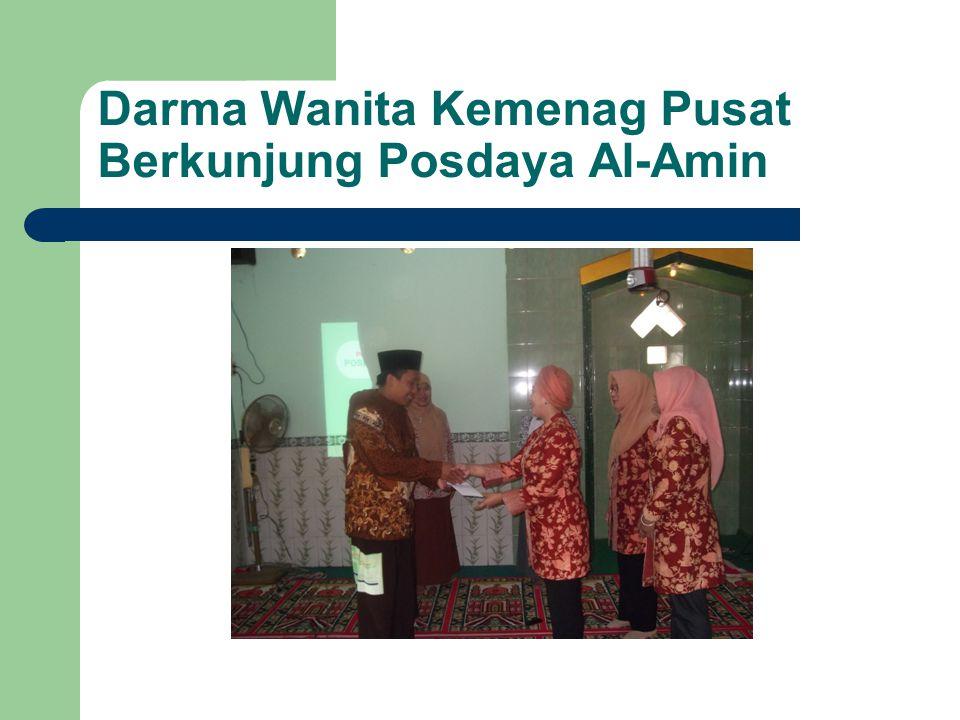 Darma Wanita Kemenag Pusat Berkunjung Posdaya Al-Amin