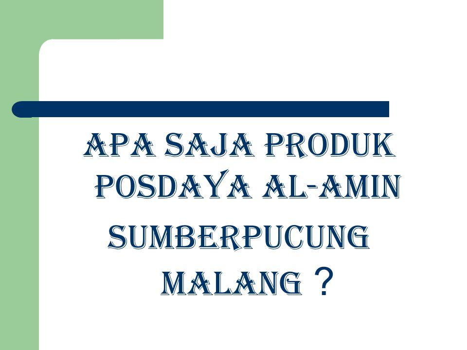 Apa Saja Produk Posdaya Al-Amin Sumberpucung Malang ?