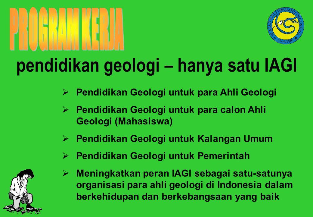  Pendidikan Geologi untuk para Ahli Geologi  Pendidikan Geologi untuk para calon Ahli Geologi (Mahasiswa)  Pendidikan Geologi untuk Kalangan Umum 