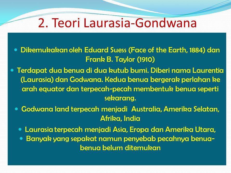 Dikemukakan oleh Eduard Suess (Face of the Earth, 1884) dan Frank B. Taylor (1910) Terdapat dua benua di dua kutub bumi. Diberi nama Laurentia (Lauras