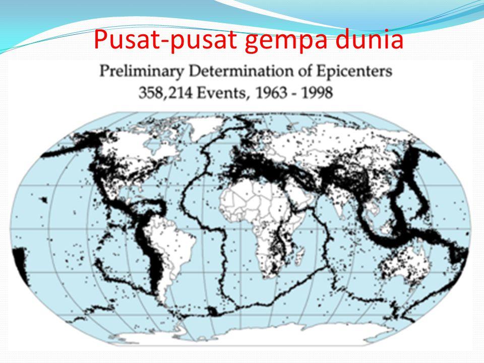 www.themegallery.com Pusat-pusat gempa dunia