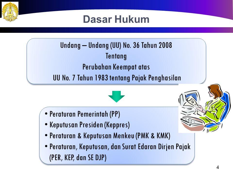 Permadi seorang notaris yang memiliki kantor sendiri dengan penghasilan netto di tahun 2012 sebesar Rp 135.000.000,00.