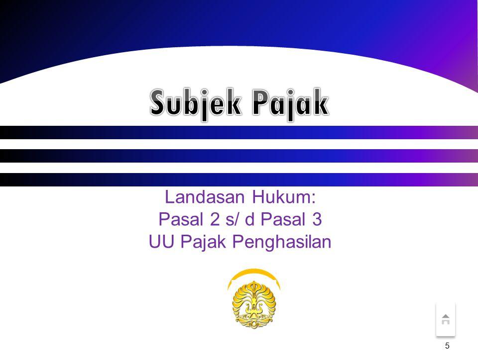 16 Subjek Pajak Luar Negeri Orang Pribadi Mulai: Saat menerima/memperoleh penghasilan dari Indonesia.