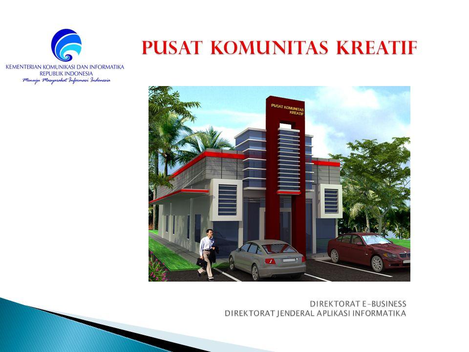 Bangunan yang berfasilitas media Teknologi Informatika dan Komunikasi (TIK) yang dikhususkan bagi para Usaha Kecil Menengah (UKM) dalam mentransformasikan manual business ke elektronik business Palangkaraya, Kalimantan Tengah (2012) Kab.