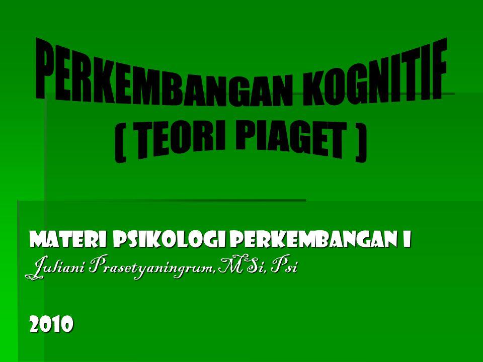 Materi Psikologi Perkembangan I Juliani Prasetyaningrum,MSi, Psi 2010