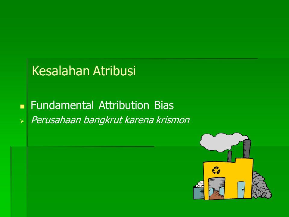 Teori Causal Attributions (Kelley, 1972) Kita menyimpulkan sifat-sifat orang lain berdasarkan: konsensus konsistensi distinctiveness.