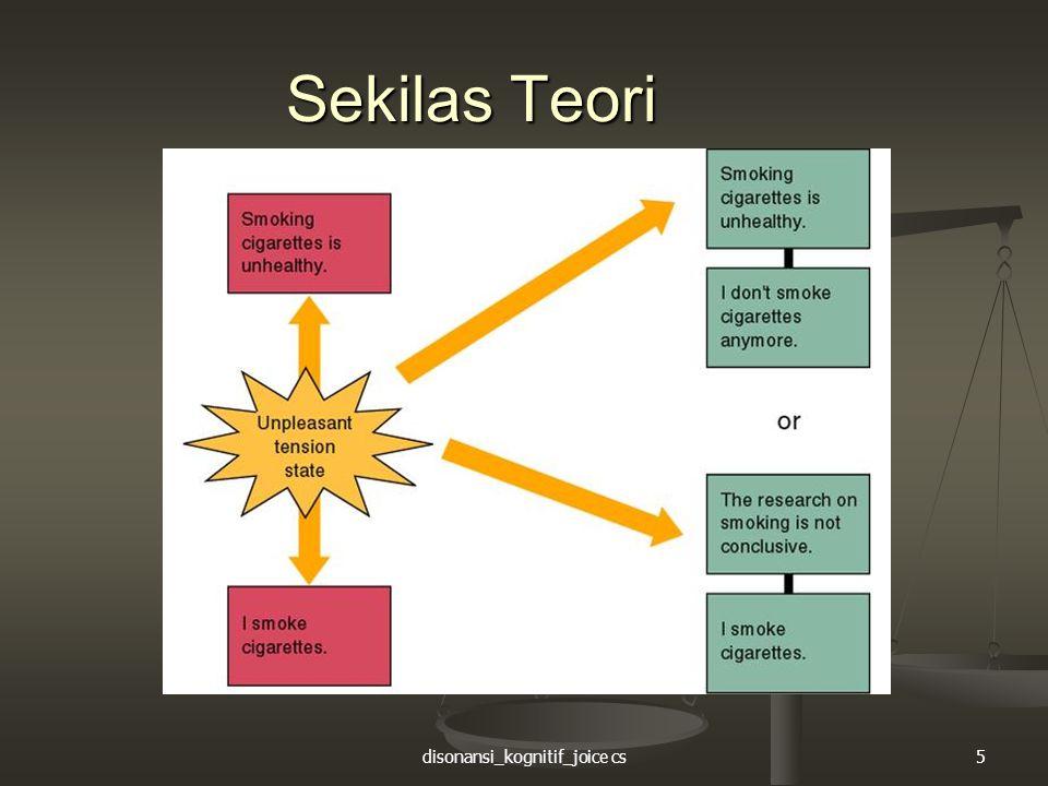 disonansi_kognitif_joice cs5 Sekilas Teori
