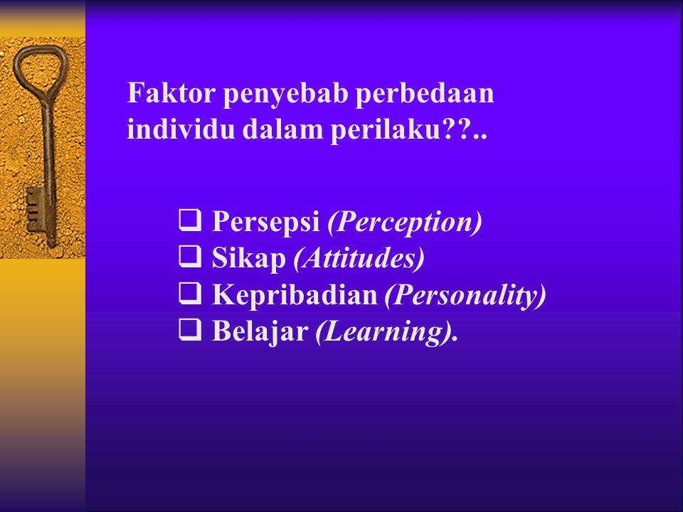 Faktor penyebab perbedaan individu dalam perilaku??..