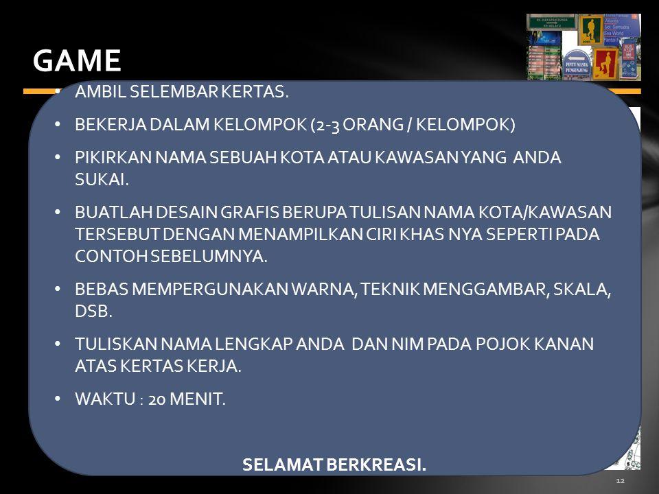 12 GAME AMBIL SELEMBAR KERTAS.